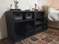 IKEA black shelves