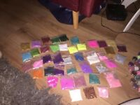 Job lot of glitters, various colours and sizes. Perfect for nails, makeup and craft