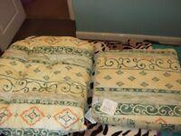 Wicker chair cushions.