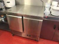 Stainless steel counter fridge 2 door