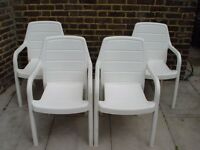 FREE DELIVERY White Garden Chairs Furniture