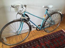 Vintage 80's Peugeot Racer Road Bike Ladies Bicycle Woman's Racing Blue 3 Speed