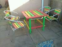 Table & Chairs Custom Paint & Pallet Table Rasta Vibe