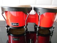 Gon Bops Fiesta Series Bongos 7 & 8.5 Inches - Red with Black Hardware
