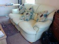 Sofa, settee, 3 person leather settee