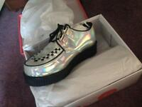 Holographic creeper shoes