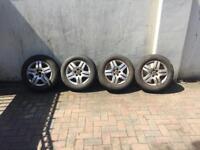 Set off Vw mk4 golf alloys wheels with tyres 195/65/15