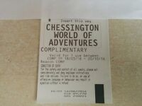 4 X Tickets for Chessington world of adventure