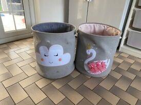 Toy storage basket set x 2