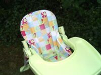 MOTHERCARE LIE BACK HIGH /LOW CHAIR