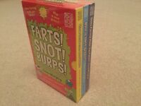 Farts! Snot! burps! 3 book box set from Glenn Murphy brand new