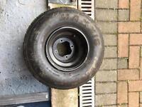 Yamaha raptor 700 rear rim and part worn tyre