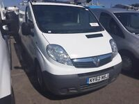 2012 Vauxhall VIVARO.1 OWNER.A/C.AIRBAG.BULKHEAD/PLYLINE.CD PLAYER.CENTRAL LOCKING.FREE WARRANTY.