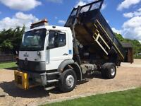 Mercedes 1824 atego 18 ton Tipper 52 reg with plough years mot nice lorry