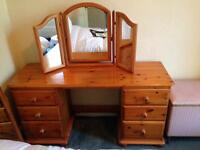 Dressing Table and matching wardrobe