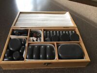 Hot Stone Massage set with Heater and slotted spoon