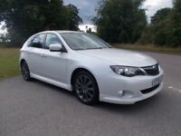 2008 58 SUBARU IMPREZA 2.0 RX 5 DOOR HATCHBACK 4X4 IN PEARLESCENT WHITE CALL 07791629657