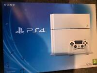 Sony PlayStation 4 PS4 console white 500gb excellent condition all boxed with 4 PS4 games