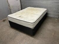 FREE DELIVERY GREY DIVAN DOUBLE BED WITH STORAGE DRAWERS & MATTRESS GOOD CONDITION