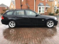 2008 BMW 318 D 2.0 150 SE 5 DR TOURING MANUAL BLACK OUTSTANDING CONDITION UNMARKED ALLOYS M.O.T NOV