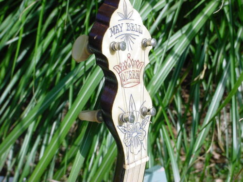 MAYBELL QUEEN  BANJO 1920s   BEST OF KIND GREAT DECORATION AND FRETBOARD