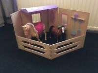 Barbie car, stables and carriage