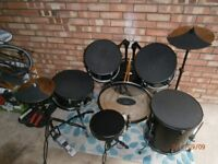 Tiger adult full size drumkit with silencers etc