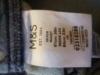 Jeans, Marks and Spencer, blue, 36/33 slim fit, unworn