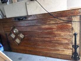 Solid wood door huge and heavy