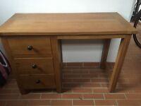 £150 Ono Solid Oak desk in pristine condition , over £300 new