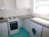 Super studio flat with its own kitchen and shower room at £385 pcm. New carpet & curtains.