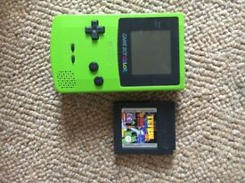 Gameboy with Tetris game