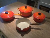 Set of 4 Le Creuset Cookware
