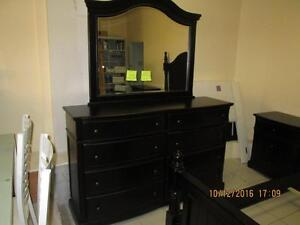 Black Antique 6 piece  Queen Bedroom Suite