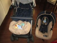 Hauck Shopper pushchair- travel system with an instructions for use and a baby walker for sale
