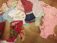 Baby girl cloths new born to 3-6
