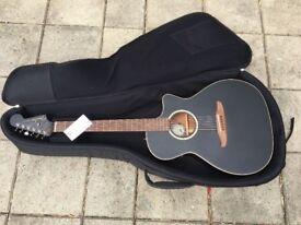 Fender Californian Series Newporter Special electro-acoustic guitar (matte black), w/ Deluxe Gigbag