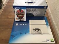 Sony Playstation 4 + 1 GAME + ARCADE STICK - ASKING PRICE ONLY
