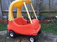 Children's little tikes car