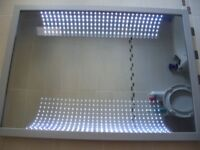 ORION FRAMED 3D CURVED EFFECT LED INFINITY MIRROR BARGAIN
