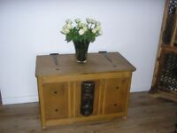 wooden chest trunk antique style including decorative Mask