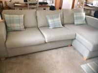 DFS grey sofa chaise (6weeks old)