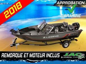 2018 Legend Boats Bateau 16 XTR Mercury 40 Ponton Pêche **Premiu