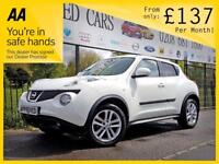 NISSAN JUKE 1.6 VISIA 5d 93 BHP Apply for finance Online today (white) 2013