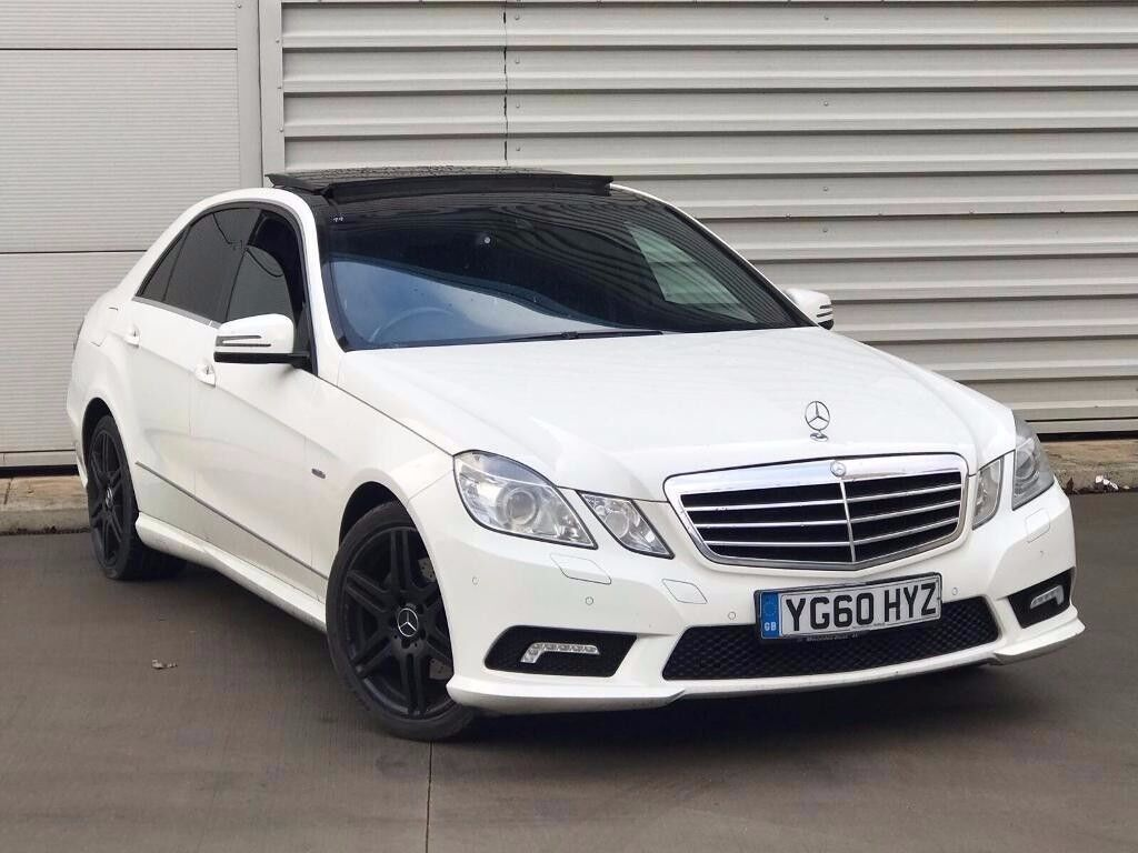 2010 60reg mercedes benz e class 2 1 e250 cdi blueefficiency sport 4dr white pan roof in. Black Bedroom Furniture Sets. Home Design Ideas