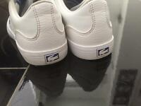 Child white Lacoste trainer shoes size 13