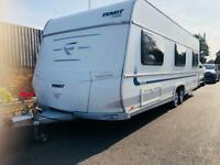 Fendt caravan 650 platin (2011/12 Model) air conditioning and fiamma canopy awning