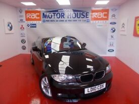 BMW 118d M SPORT(FULL RED LEATHER) FREE MOT'S AS LONG AS YOU OWN THE CAR!! (black) 2010