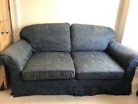 2 Blue sofas