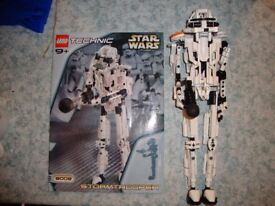 LEGO TECHNIC STAR WARS STORM TROOPER 8008-1 COMPLETE 2001YR 361 parts